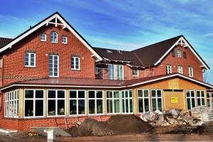 Noch nicht ganz fertig ist das neue Norddorfer Dorfzentrum