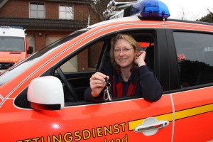 """""""Für mich war das schon immer ein Traum mit dem Hubschrauber gewinscht zu werden"""", gesteht die 47-Jährige Dr. med. Claudia Derichs"""