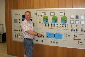 Schalttafel des Amrumer Wasserwerkes...