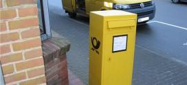 Der Briefkasten wurde demontiert...