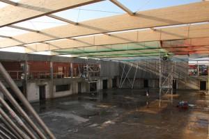 Arbeiten am Dach mit Hochdruck...