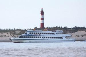 Transportiert seine Gäste auch bald nach Helgoland... der Adler Express