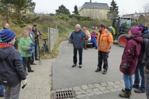 Wittdüns Bürgermeister Jürgen Jungclaus begrüßte die Helfer