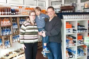 Familie Spriestersbach im neuen Laden