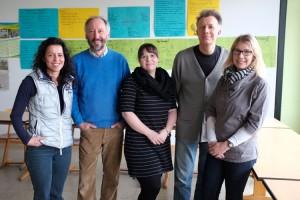 Der Vorstand v.l.n.r: Barbara Meyer-Timpe, Rüdiger Seiffert, Katrin Schmale, Stephan Schlichting und Andrea Bendixen