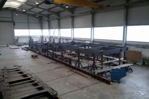 Baulehren auf der Werft
