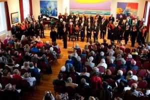 Rund 120 Zuschauer besuchten das Konzert...