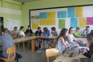 Arbeit in Gruppen in der Schule...