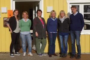v.l. Linda Krückel (Leitung) , Martina Hoff (Aushilfskraft), Ammelie Hansen (2.Vorsitzende), Ute Feddersen-Hansen (Schrfiftführerin), Nena Ewert (Kassenwärtin, Michael Hoff 1. Vorsitzender))