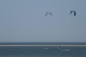 Die Amrumer Kitesurfer verzichten freiwillig...