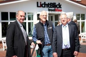v.l.:Architekt Peter Heck-Schau, Kinobetreiber Ralf Thomsen, Bürgermeister Peter Kossmann