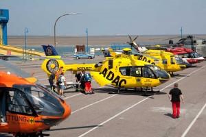 Mehr Hubschrauber als Autos...