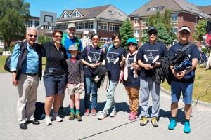 Rotary Husum mit seinen Besuchern des GSE-Teams aus Taiwan beim Muko-Lauf