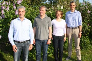 v.l. Architekt Carlos Göttsch, Christian Klüßendorf, Dr.Jasna Baumgarten, Ulf Jürgensen