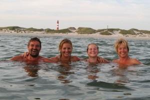Erfrischendes Bad in der Nordsee...