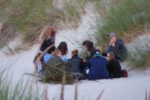 Der Kniepsand und die angrenzenden Dünen sind ideal für Partys...