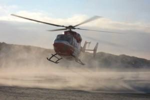 Auch am Strand werden Einsätze geflogen...