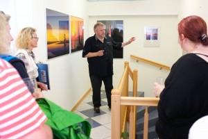 Rede und Antwort, Raimund Beerwerth zwischen den Fragen der Besucher...