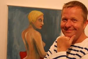 Da freut sich der Mann: Kai Quedens und sein Werk