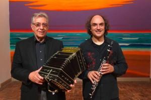 Raul Jaurena (Bandoneon) und Bernd Ruf (Klarinette)