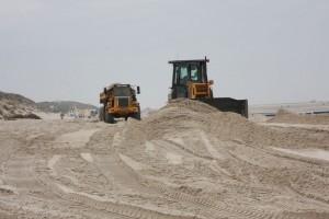 Endlich ein Sandpolster für den gebeutelten Strandbereich Ban Horn in Norddorf