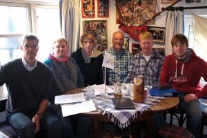 v.l.n.r: Ulf Jürgensen, Jan Schmuck, Nils Randow, Dirk Dümmel, Christian Peters und Dominic Kühfuß