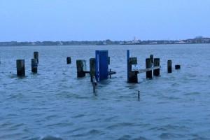 Bootsanleger in Steenodde unter Wasser...