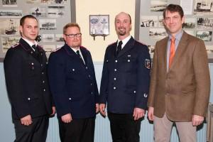 Tobias Lemcke, Jan Schmuck, Oliver Ziegler, Bürgermeister Bernd Dell Missier
