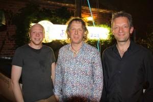 Im schön verschwitzten Schapptüüch: Jan Molge, Eckhart Feldmann und Rudolf Fromeyer (von links)
