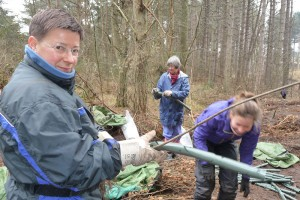 Drei Waldfrauen: Kerstin, Alena und Ursula (v. l.)