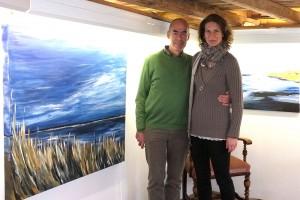 Daniela Zeiser mit ihrem Mann...