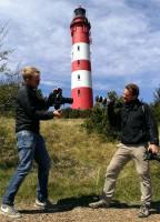 Speed-Dating mit dem Leuchtturm: Mark Hofmeyr und Caspar Diederik (von links) (Foto: Lars Rickerts)