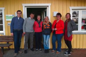 Tobias Schmidt (Beisitzer des Amtes Föhr-Amrum),Michael Hoff 1. Vorsitzender), Ute Feddersen-Hansen (Schrfiftführerin), Nena Ewert (Kassenwärtin), Annelie Hansen (2. Vorsitzende) und  Linda Krückel (Leitung)