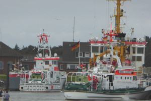 Wachwechsel im Seezeichenhafen