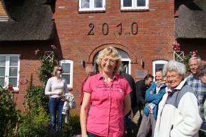 Claudia Derichs mit ihren Gästen...