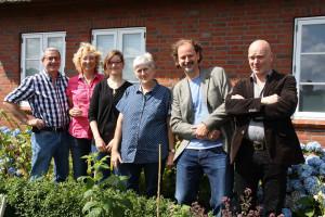 Medizin meets Kunst: Peter Totzauer, Claudia Derichs,  Kerrin Dethlefsen, Doris Zimmermann, Steffen Ulbrich und Georg Dittmar (von links)