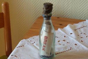 Die älteste Flaschenpost der Welt... (Foto: Familie Winkler)