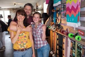 Ladenbesitzer: Sybille und Sven Hasenclever mit Tochter Lia