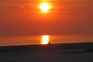 Letzter schöner Sonnenuntergang für die nächsten Tage?