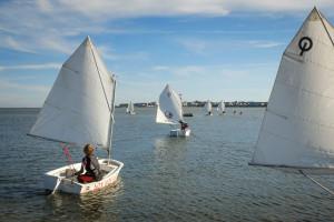 Absegeln von Steenodde zum Seezeichenhafen... Foto: Christoph Mossmann: