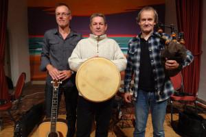 Bernd Lüdke (li), Robbie Doyle und Norbert Wehde