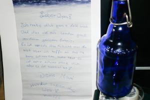 Originalbrief mit Original Flaschenpost Buddel