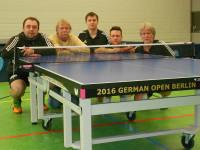 """Amrums Tischtennis-Asse mit der """"Final""""-Platte der German Open 2016"""