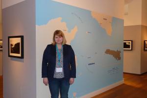 Volontärin Katrin Hippel kuratierte die Lipadusa-Ausstellung