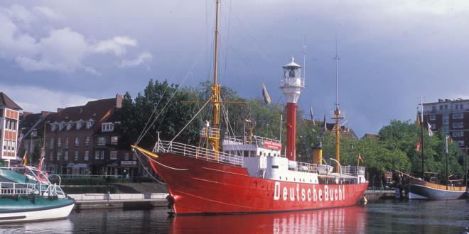 Die »AMRUMBANK« als Museumsschiff im Hafen von Emden