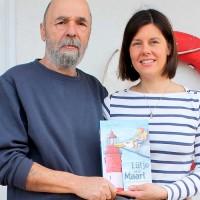 Nicht lachen, alter Seebär! Ulrich, der Illustrator-Vater, mit Verfasser-Tochter Hannah Köhler