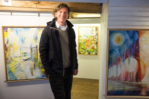 Elmar Koritzius  bei der Ausstellungseröffnung...