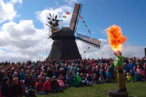 Mühlenfest mit Showeinlage...