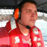 Freiwilliger Seenotretter der Deutschen Gesellschaft zur Rettung Schiffbrüchiger