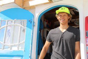 Noch am Strand, aber ab September Azubi und schon lange in der Feuerwehr: Marvin Rehberg